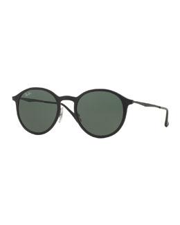 Classic Round Sunglasses, Black