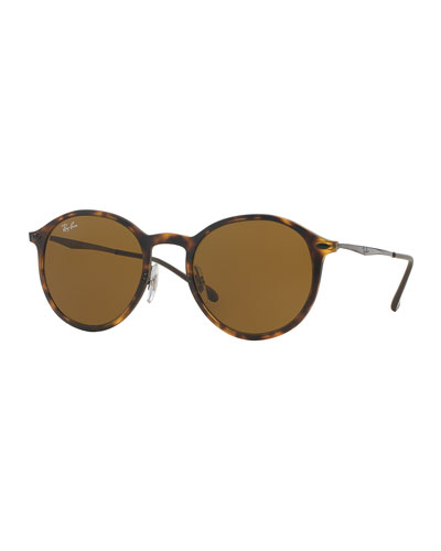 Classic Round Sunglasses, Brown