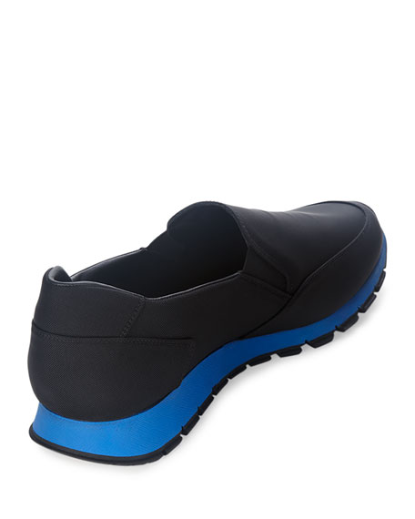 Nylon Slip-On Sneaker, Black