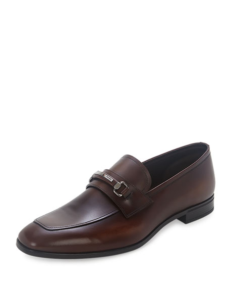 Leather New Bit Loafer, Brown
