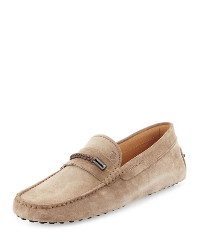 Gommini Suede Driving Shoe, Tan
