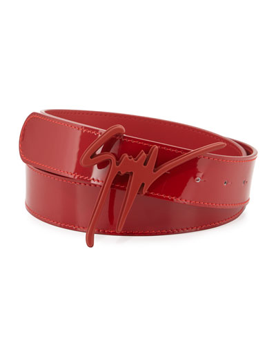 Men's Tonal Logo Buckle Belt