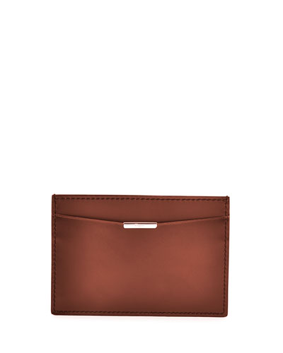 Limited Edition Tramezza Leather Card Case, Brown