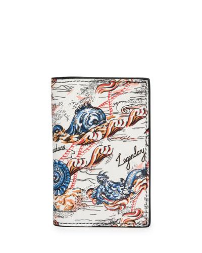 Legendary Creature Print Leather Pocket Organizer