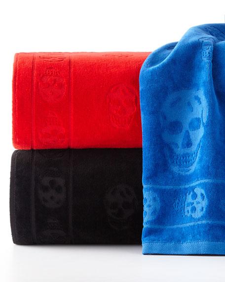 Tonal Skull-Print Beach Towel