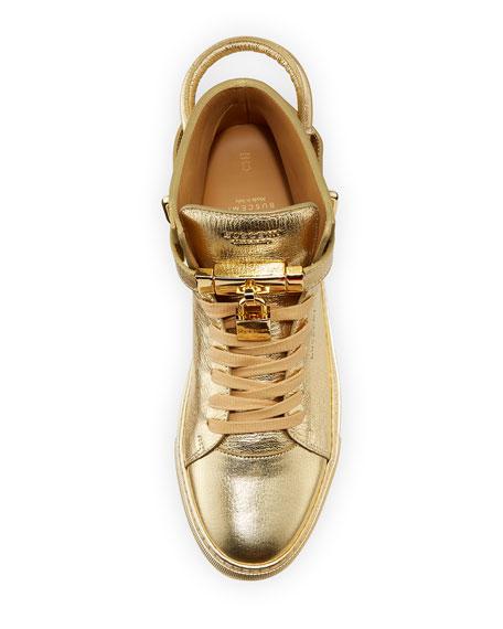 Buscemi 100mm Metallic High-Top Sneaker