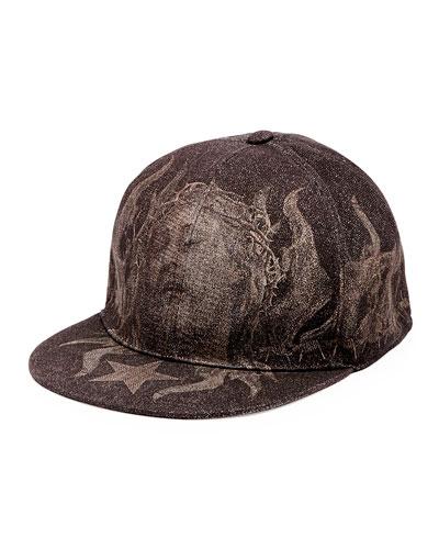 Shroud of Turin Flat-Bill Hat, Black