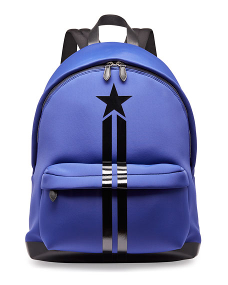 Star & Stripe Neoprene Backpack, Blue