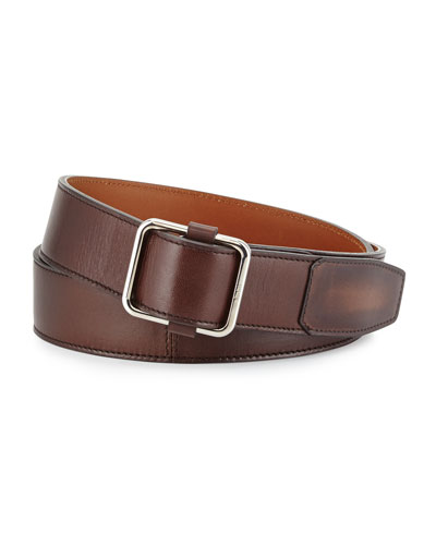 Lorenzo Leather Belt, Brown