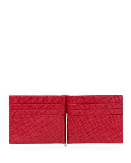 Saffiano Leather Money-Clip Wallet
