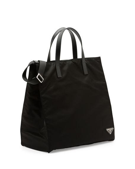 Men's Nylon Tote Bag, Black (Nero)