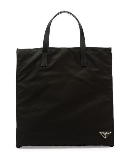 Men's Nylon Tote Bag, Black (Nero)