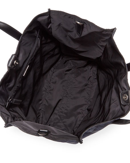 Camo-Print Nylon Tote Bag, Blue
