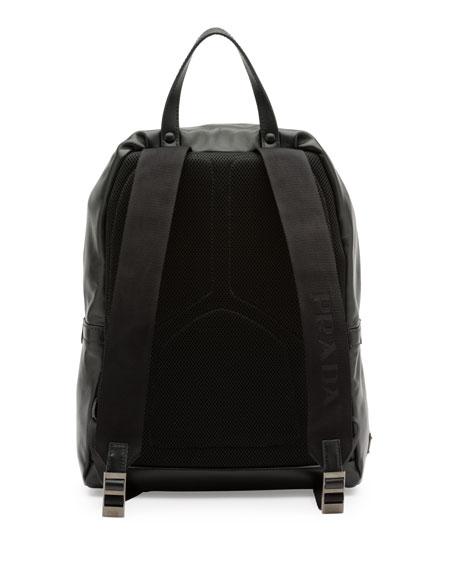 Soft Leather Backpack, Black (Nero)
