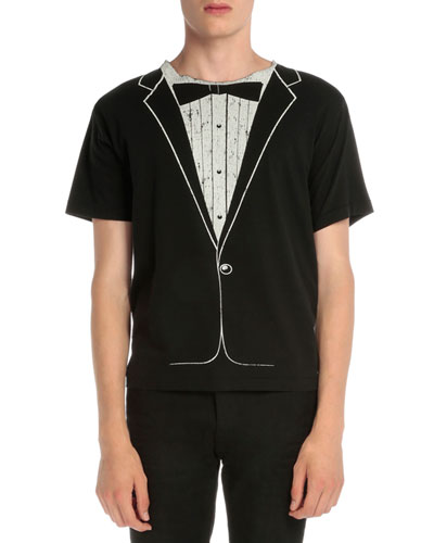 Tuxedo Graphic Short-Sleeve T-Shirt, Black