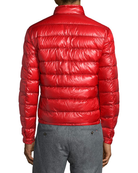 7334578a6 Acorus Quilted Nylon Puffer Jacket Red
