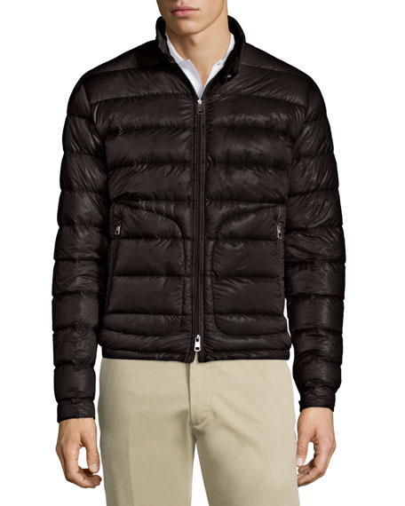 Acorus Quilted Nylon Puffer Jacket, Black