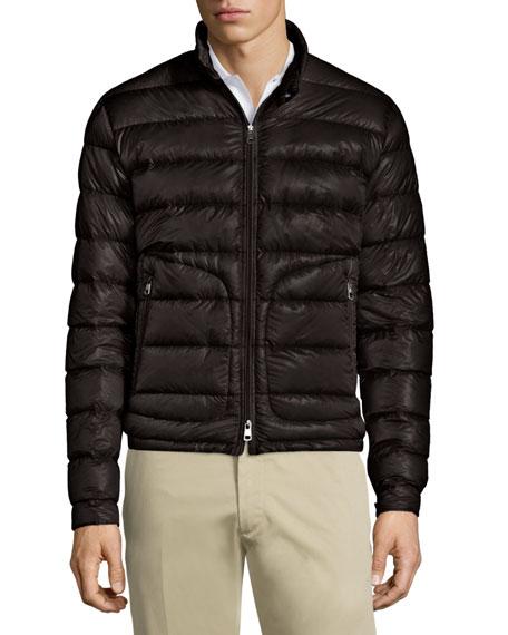 Acorus Quilted Nylon Puffer Jacket, Black