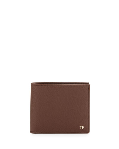 Calfskin Bifold Wallet, Brown