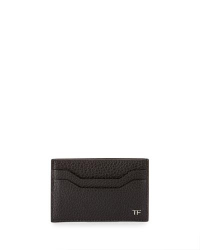 Leather TF Card Case, Black