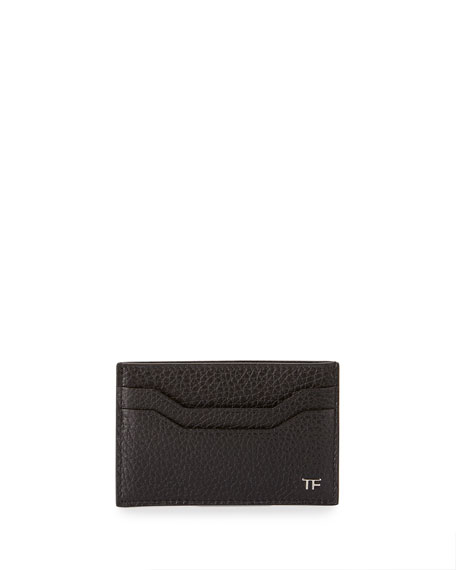 Leather TF Card Case, Black