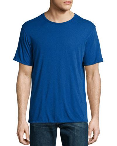 Mazarine Reversible Short-Sleeve Jersey Tee, Blue