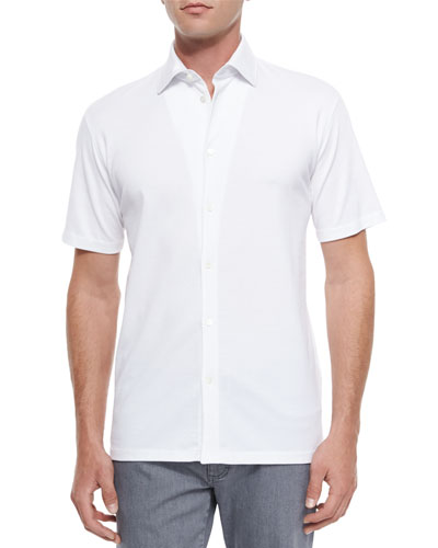 Mr. Buttons Solid Button-Down Shirt, White