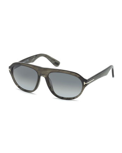 Ivan Transparent Acetate Sunglasses, Gray