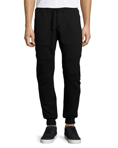 Farlane Fleece Jogger Sweatpants, Black