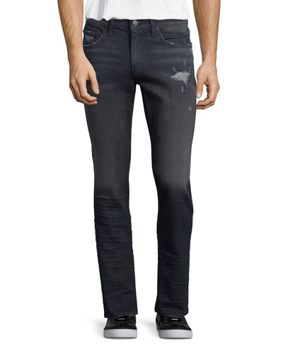 Tyler Faded Distressed Denim Jeans, Talley