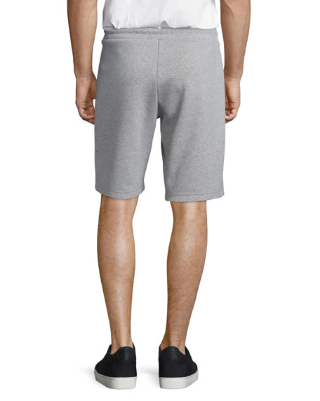 Zip-Pocket Knit Sweat Shorts, Gray