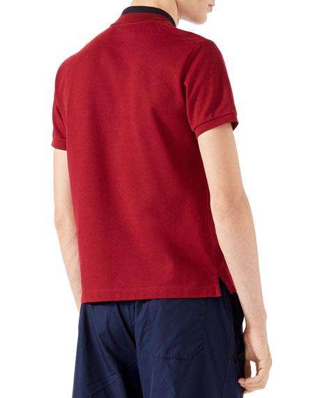 Cotton Piquet Polo Shirt, Red