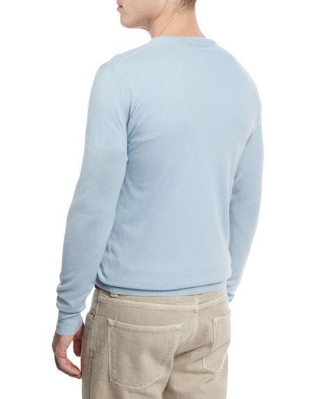 Baby Cashmere Crewneck Sweater, Stone Cascade