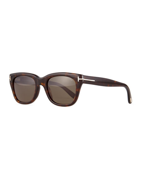 Snowdon Shiny Acetate Sunglasses, Brown