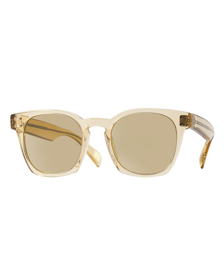 Oliver Peoples Byredo 50 Photochromic Sunglasses, Beige