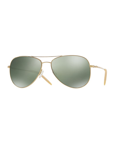 Kannon 59 Photochromic Sunglasses, Golden