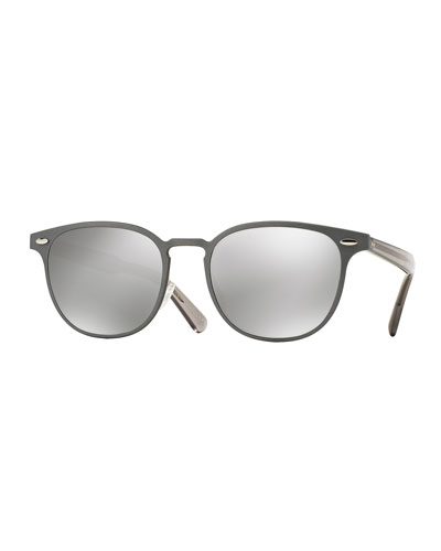 Sheldrake 54 Metal Sunglasses, Gray