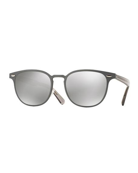 Sheldrake 54 Metal Sunglasses, Gray