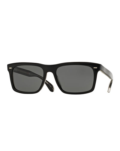 Brodsky 55 VFX+ Polarized Sunglasses, Black