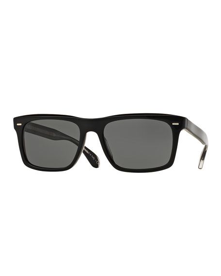 Oliver Peoples Brodsky 55 VFX+ Polarized Sunglasses, Black