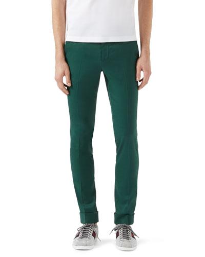 Highlands Fluid Stretch-Twill Pants, Green