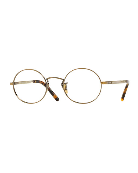 Overstreet 46 Round Fashion Glasses, Golden