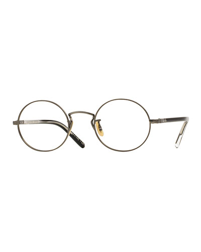 Overstreet 46 Round Fashion Glasses, Pewter