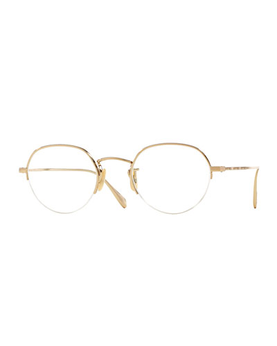 Roland 47 Round Fashion Glasses, Golden