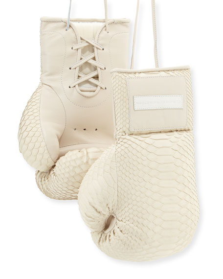 Elisabeth Weinstock Python Boxing Gloves, Cream