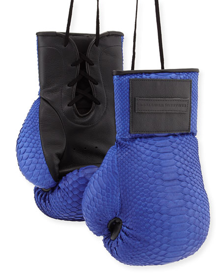 Elisabeth Weinstock Python Boxing Gloves, Electric Blue