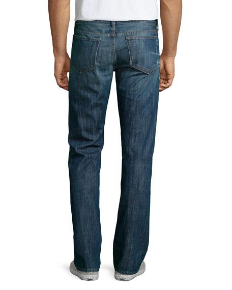 L'Homme Straight-Leg Denim Jeans, Biscayne