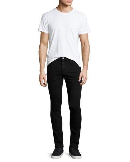 L'Homme Noir Skinny-Leg Jeans, Black