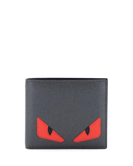e3877c09ca7 Fendi Monster Creature Leather Wallet