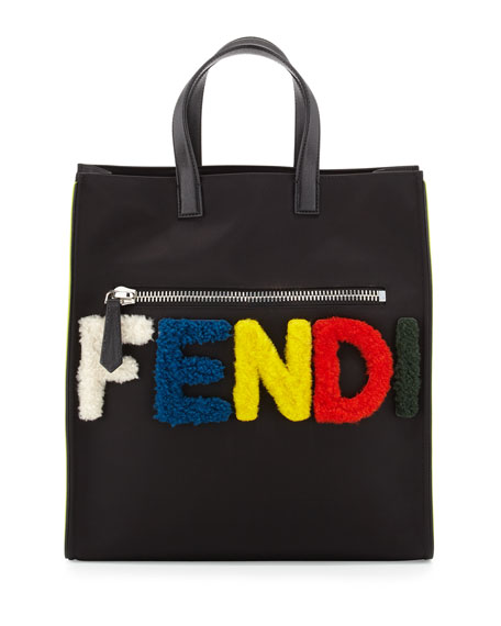 Men's Monster Furry-Logo Tote Bag